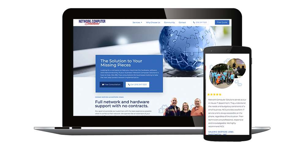 Website Design Cedar Rapids, Iowa